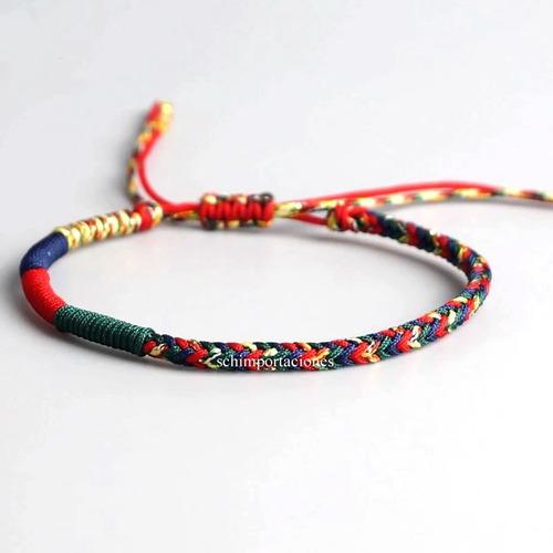 Nueva Pulsera Tibetana De La Suerte - Tricolor  -