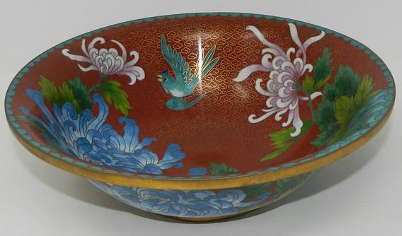 Antiguo Bowl Centro De Mesa En Cloisonne China