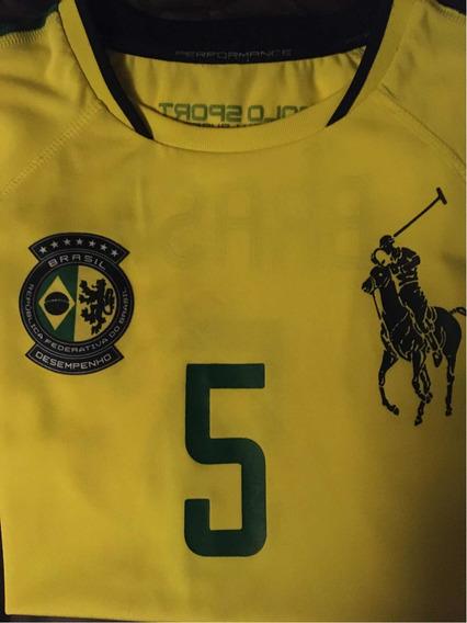 Playera Polo Ralph Lauren Brasil Sport Numero 5 Chica