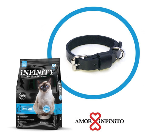Alimento Gatos Infinity Premium 1 K + Collar Simple Pet