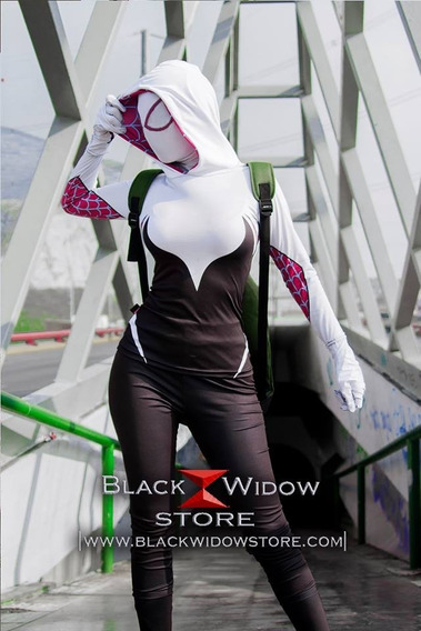 Traje Suit Spider Gwen Homecoming Amazing Black Widow Store
