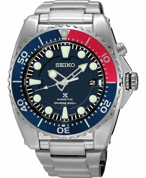 Reloj Seiko Prospex Kinetic Acero Bisel Pepsi Ska759p1