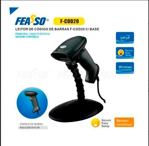 Leitor De Cod.de Barras F-cod20/32bit C/ Base E Sensor Cont