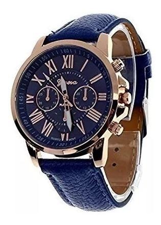 Relógio Luxo Pulso Analógico Unissex Geneva