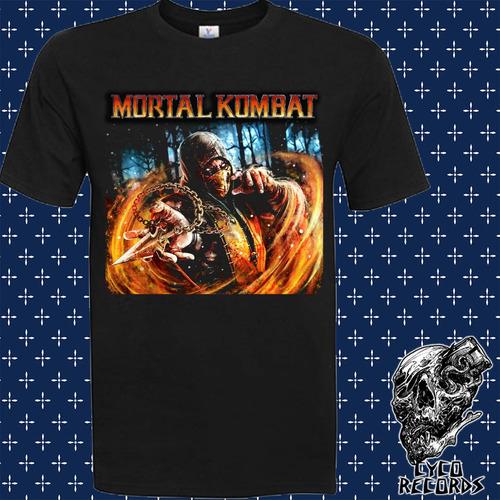 Imagen 1 de 2 de Mortal Kombat Escorpion - Videojuegos - Polera- Cyco Records