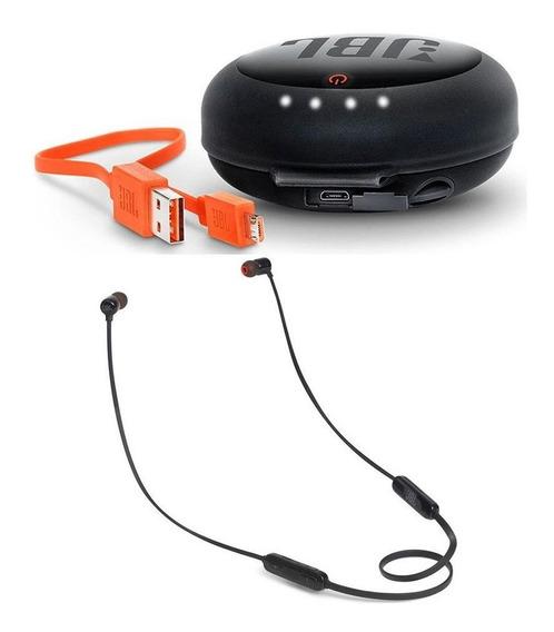 Fone Ouvido Jbl T110bt Bluetooth Preto + Case Carregador