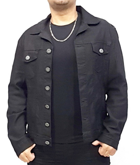 Jaqueta Jeans Masculina Com Elastano