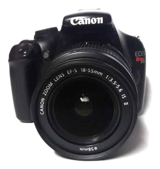 Câmera Canon T3 Com Lente 18-55 Seminova 10000 Cliques