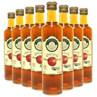 8x Vinagre Organico São Francisco 500ml Acidez 4%