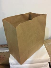 200 Sacos Papel Kraft Grande Sanfona 18 Cm Delivery Burguer