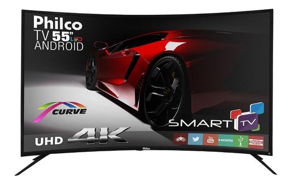 Smart Tv Philco Curve 4k Android Led 55 Ph55a16dsgwa Bivolt