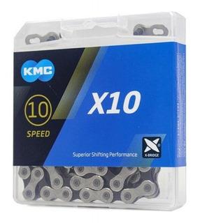 Corrente Kmc X10 Silver 116 Elos 10v Sram/shimano Original