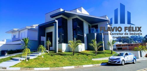 Imagem 1 de 15 de Casa A Venda Condomínio Real Park Arujá 4 Suítes E Acessebilidade - 756