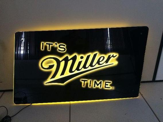 Luminoso, Painel, Placa Em Led Cerveja Miller Original Usa