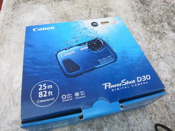 Câmera Powershot Canon D30 A Prova D´ Água