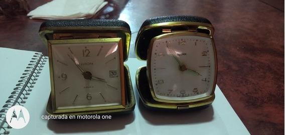 Par De Relojes De Viajero Antiguos