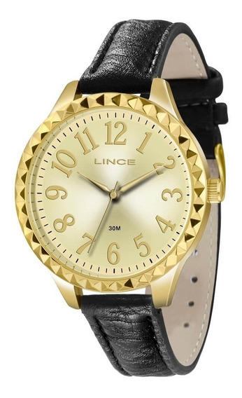 Relógio Lince Feminino Dourado Lrc4311l Frete Grátis