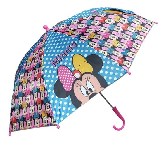 Paraguas Lluvia Infantiles Disney Minnie Mouse Mundo Manias