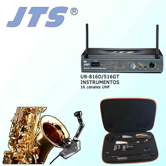 Microfono Inalámbrico Saxofon Trompetas Trombon Jts Ur-816d