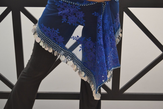 Caderines Danzas Árabes Bellydance Importados Color Azul