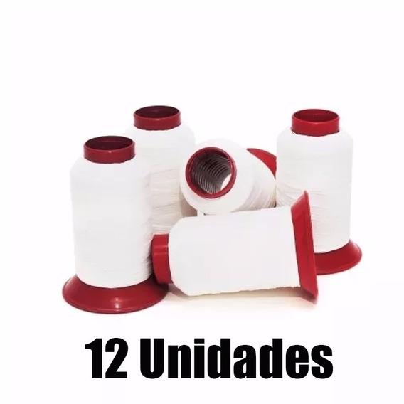 Linha 10 De Pipa, 500 Jardas 100% Algodão Branca C/ 12 Tubos