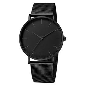 Relógio Masculino Ultra Fino Quartzo Homens De Negócio Luxo