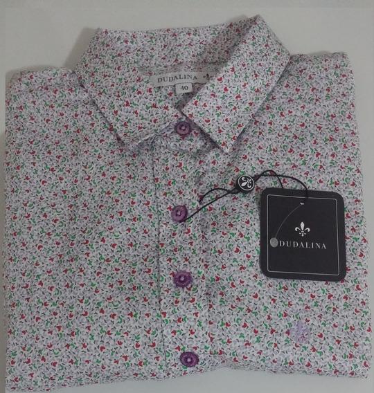 Camisa Dudalina Feminina Original - 40 - Estampada