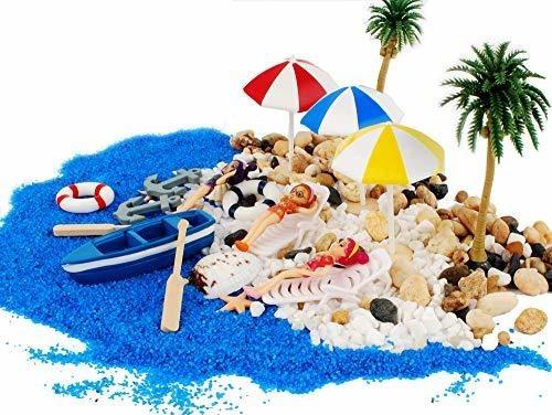 20 Estatuas Decorativas De Playa En Miniatura Para Jardin D