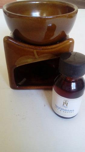Hornillo P/esencia Aromatica Ceramica Esmaltada Y Aceite