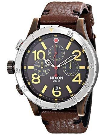 Relógio Nixon 48-20 Chrono Pulseira Couro - Raríssimo