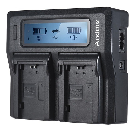 Andoer Np Fz100 Carregador Bateria Câmera Lcd Dual Canal Da