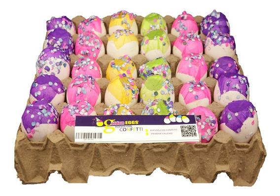 Huevos De Confeti Sencillos 170 Pzas. - Golden Eggs