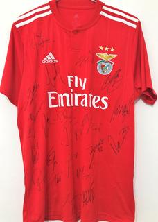 Camisa Benfica Autografada Todo Elenco Temporada 2018/19