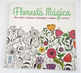 Livro De Colorir Floresta Mágica - Alguns Desenhos Pintados