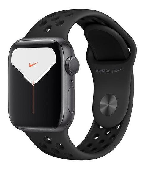Apple Watch 5 Alumínio Com Pulseira Nike Preta 40mm Gps