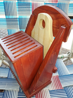 Taco Porta Cuchillas De Madera