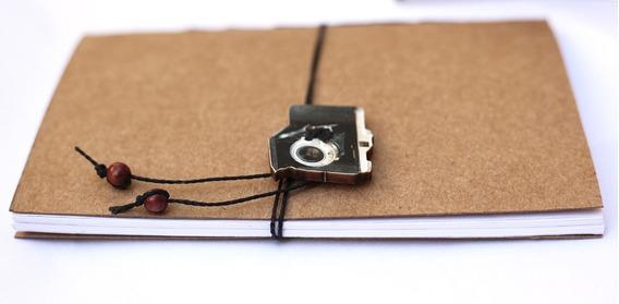 Caderno Artesanal De Bolso Tema Fotografia