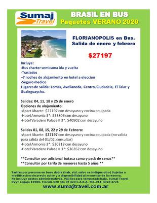 Paquetes A Brasil Florianopolis Camboriu Buzios Natal Maceio