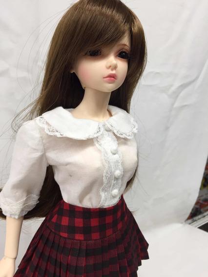 Boneca Bjd Recast 1/4 Doll Normal Skin Look Completo