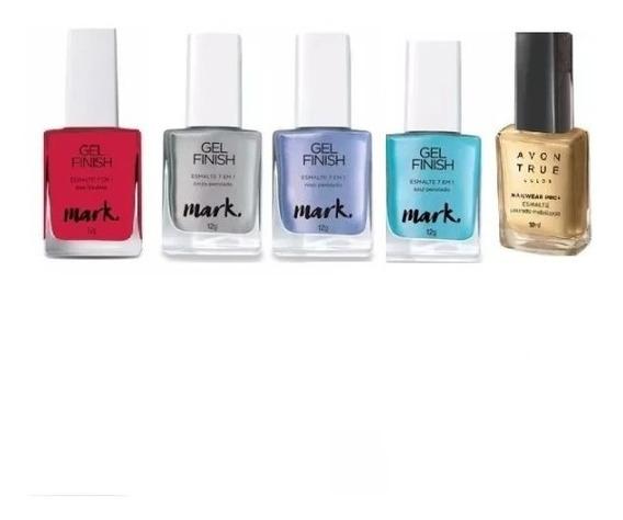 5 Esmalte Gel Finish 7 Em 1 Avon True Colormark 12g Origi