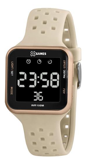 Relógio X-games Feminino Digital Xlppd033 Rose Negativo