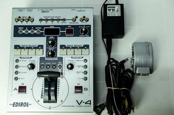 Mesa/mixer/switcher De Video Roland Edirol V4 - 4 Canais