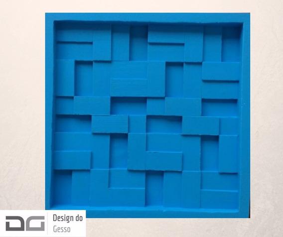 Forma Molde De Silicone Gesso 3d Mosaico Liso 30 X 30cm