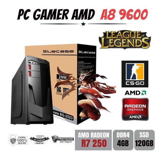 Pc Gamer Amd A8 9600 4gb Ddr4 R7 250 Apu Ssd120gb