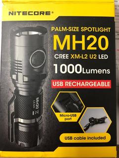 Lanterna Nitecore Mh20 1000 Lumens Cree Xm-l2 U2 Led Usb