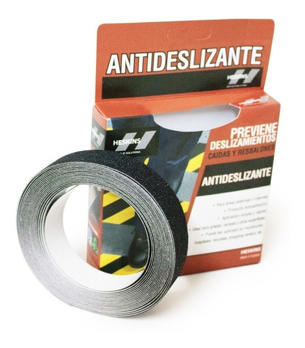 Cinta Antideslizante Heskins 25mm X 6mt Negro