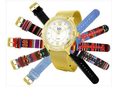 Relógio Feminino Analógico Troca Pulseira Fashion - Sk65077b