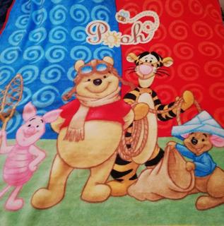 Winnie Pooh Cobertor Para Cama Individual Recamara Niños