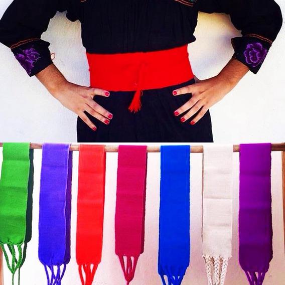 Fajas Artesanales Lisas Colores Mexicanas