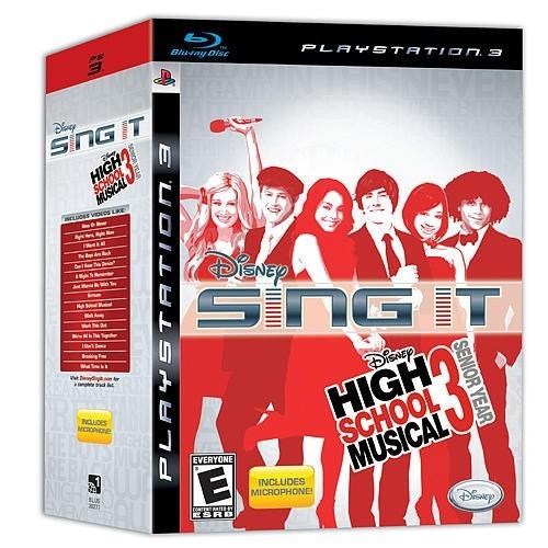 Jogo Disney Sing It High School Musical 3 Senior Year Ps3